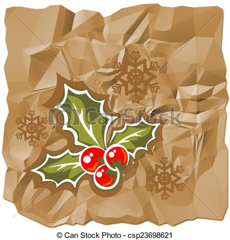 Clip Art of christmas paper.