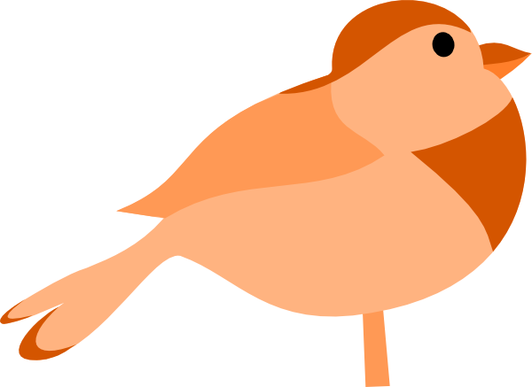 Brown White Cute Bird Clipart.