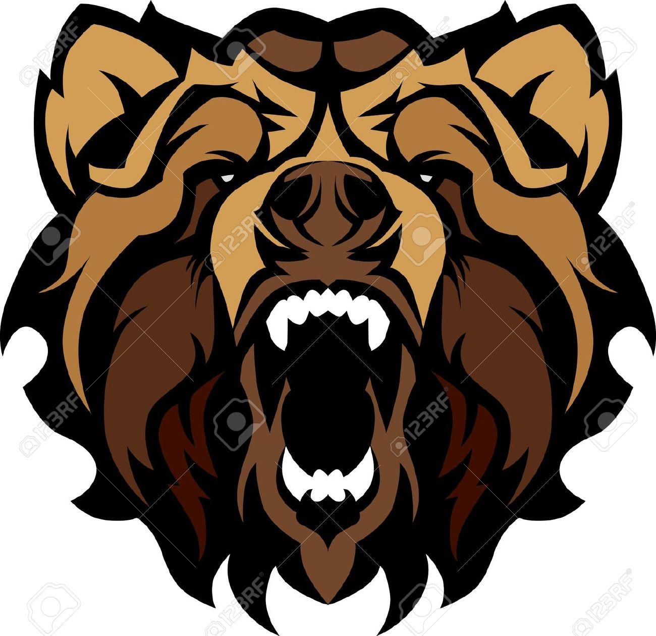 Black bear head clipart.