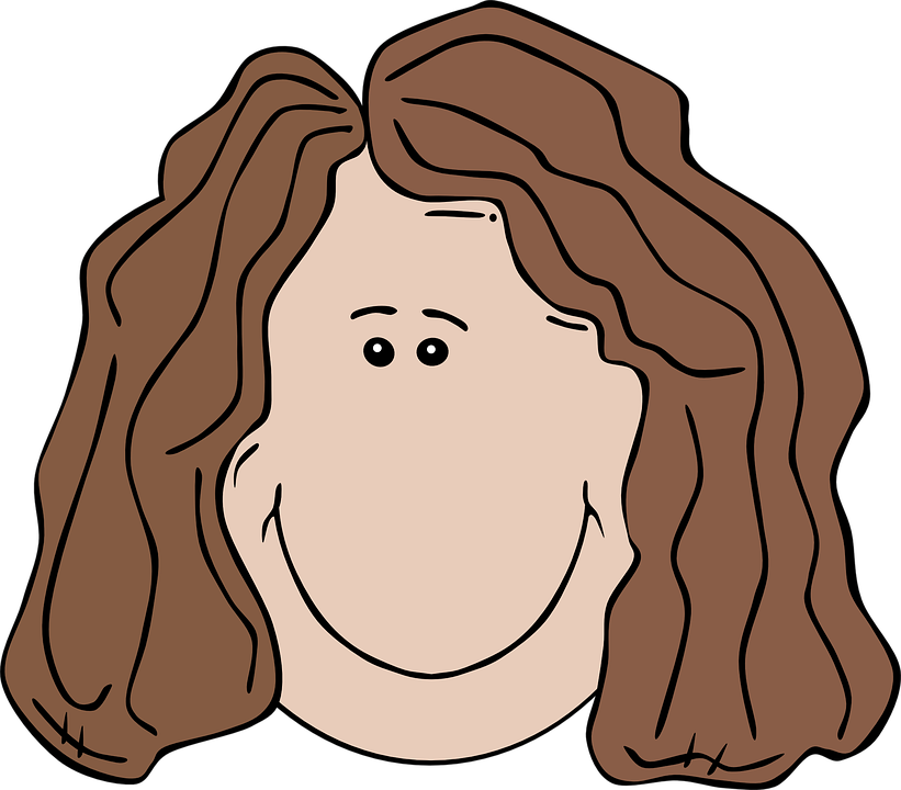 Young Happy Boy With Brown Wet Hair Is Smiling And: Girl With Straight Hair Clipart 20 Free Cliparts