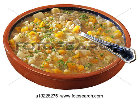 Stock Image of Scotch Broth Cut Out u13226275.