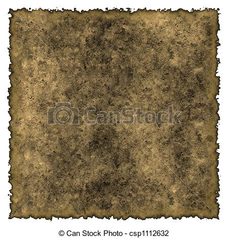 Clip Art of Old burned edges parchment.