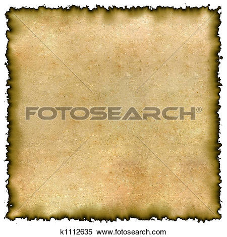 Stock Illustration of Old yellow burned edges parchment k1112635.