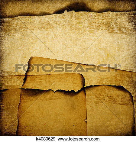 Stock Illustration of Burned grunge paper background. k4080629.