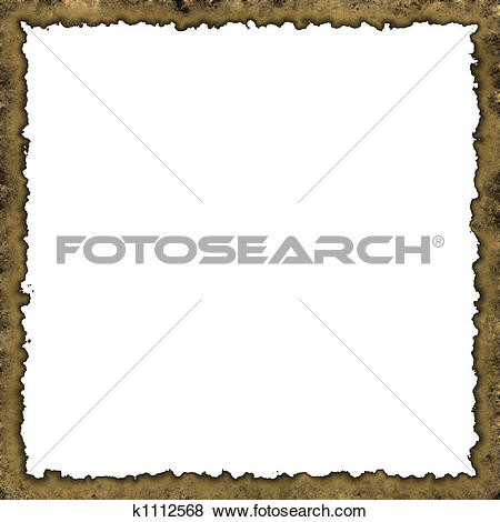 Stock Illustration of Burned edges old frame k1112568.