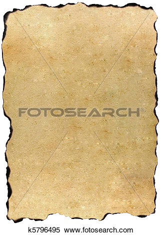 Stock Illustration of Burned edges old parchment k5796495.