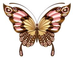 Brown butterfly clipart.