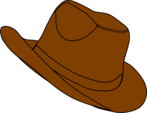 Brown hat clipart.