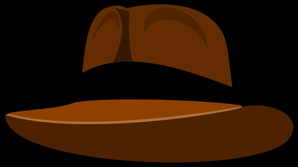 Free vector graphic: Hat, Fedora, Brown, Indiana Jones.