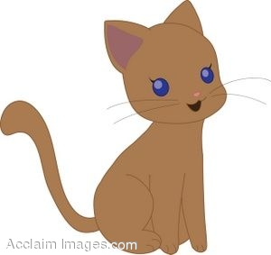 Brown Cat Clip Art.