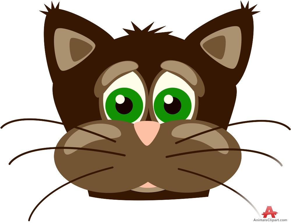 Brown Cat Face Design.