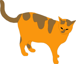 Orange And Brown Cat Clip Art at Clker.com.