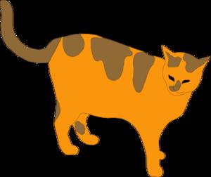 Orange And Brown Cat Clip Art at Clker.com.