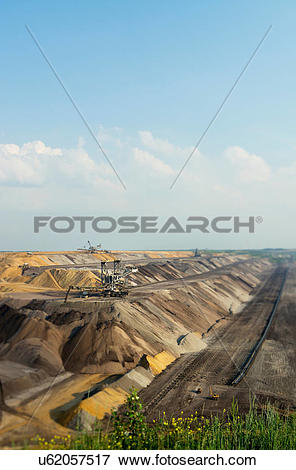 Picture of Opencast mine for brown coal, Juchen, Germany u62057517.