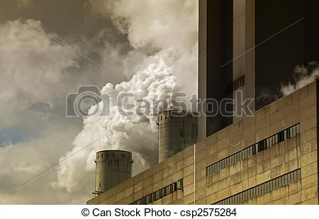 Stock Photo of brown coal power station csp2575284.