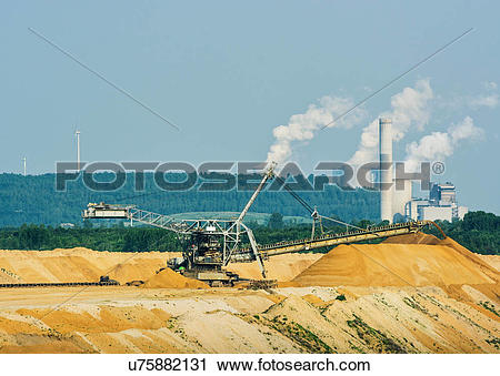 Stock Photography of Brown coal extraction, Juchen, Germany.