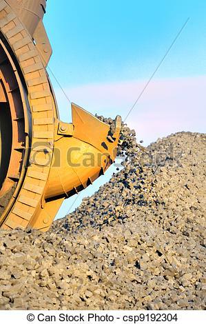 Stock Photo of bucket wheel excavator for digging the brown coal.