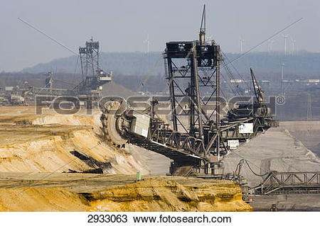 Stock Photo of brown coal mining Garzweiler, Germany 2933063.