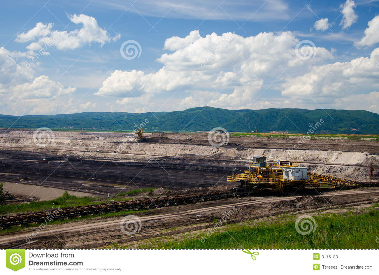 Brown Coal Mining Stock Image.