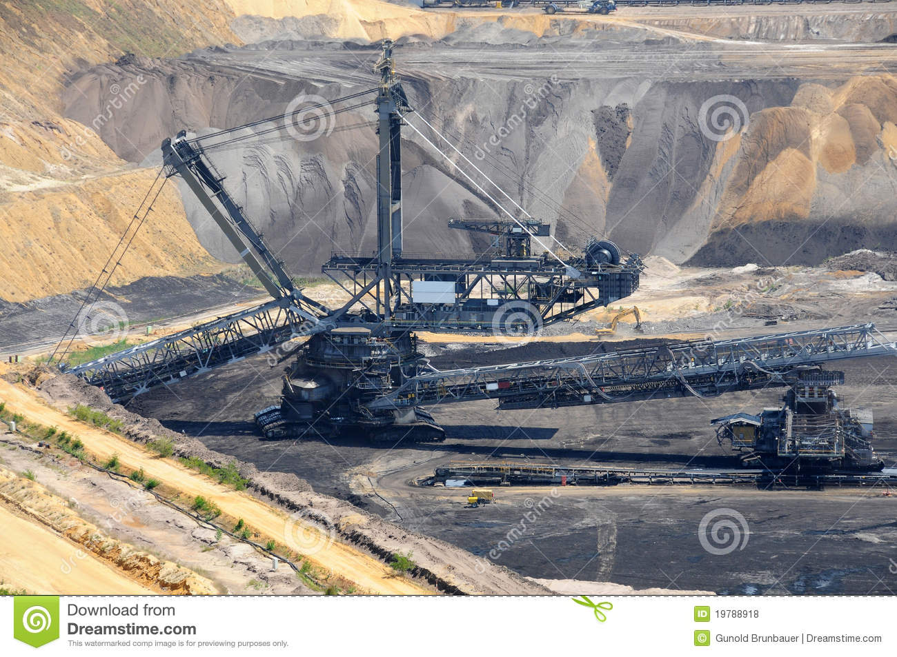 Brown Coal Open Mining Royalty Free Stock Photos.