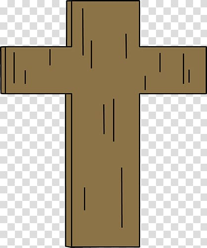 Christian cross , brown cross transparent background PNG.