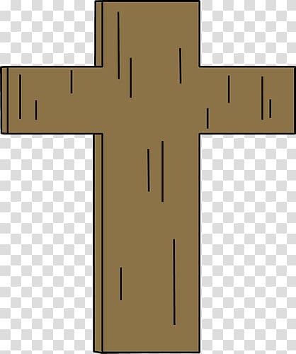 Christian cross , brown cross transparent background PNG.