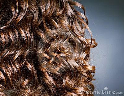 Brown Curly Hair Clipart.