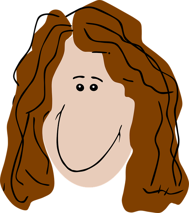 Free vector graphic: Woman, Curly Hair, Brown Hair.