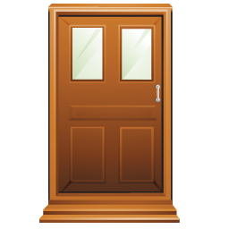 brown door clipart clipground Road with Sunshine Clip Art Small Window Clip Art