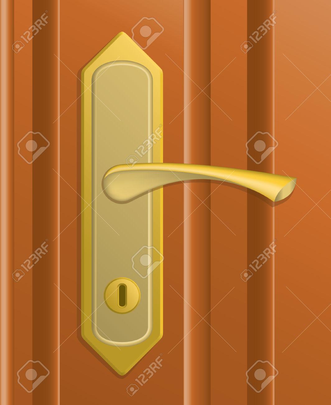 Door handle clipart.