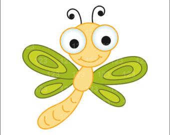 Cute dragonfly clipart.