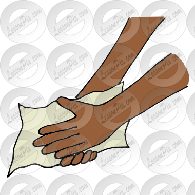 Dry Hands With Paper Towel Clipart.
