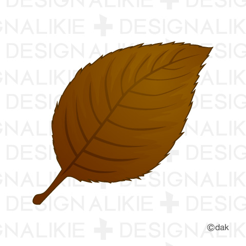 Brown Fall Leaf Clipart.