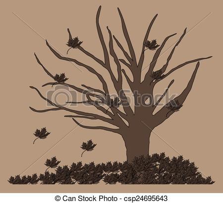 EPS Vector of Dry tree.