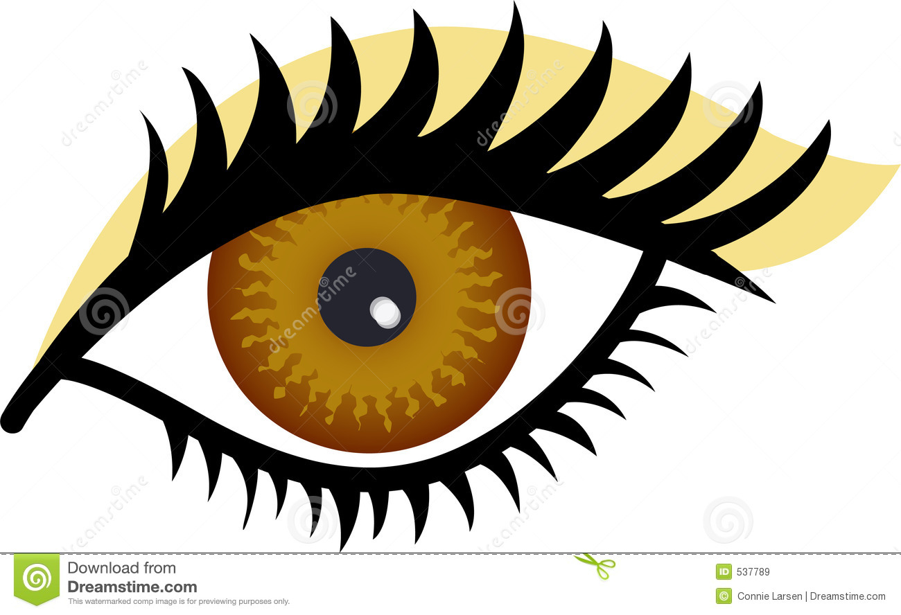 Brown Eye Free Clip art of Eye Clipart #1722 — Clipartwork.