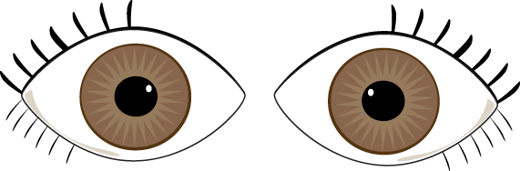 Brown Eyes Clipart.