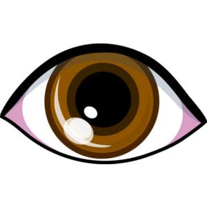 Brown eyes clip art.