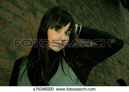 Stock Photography of Dark brown eyes of a pretty woman x75346020.