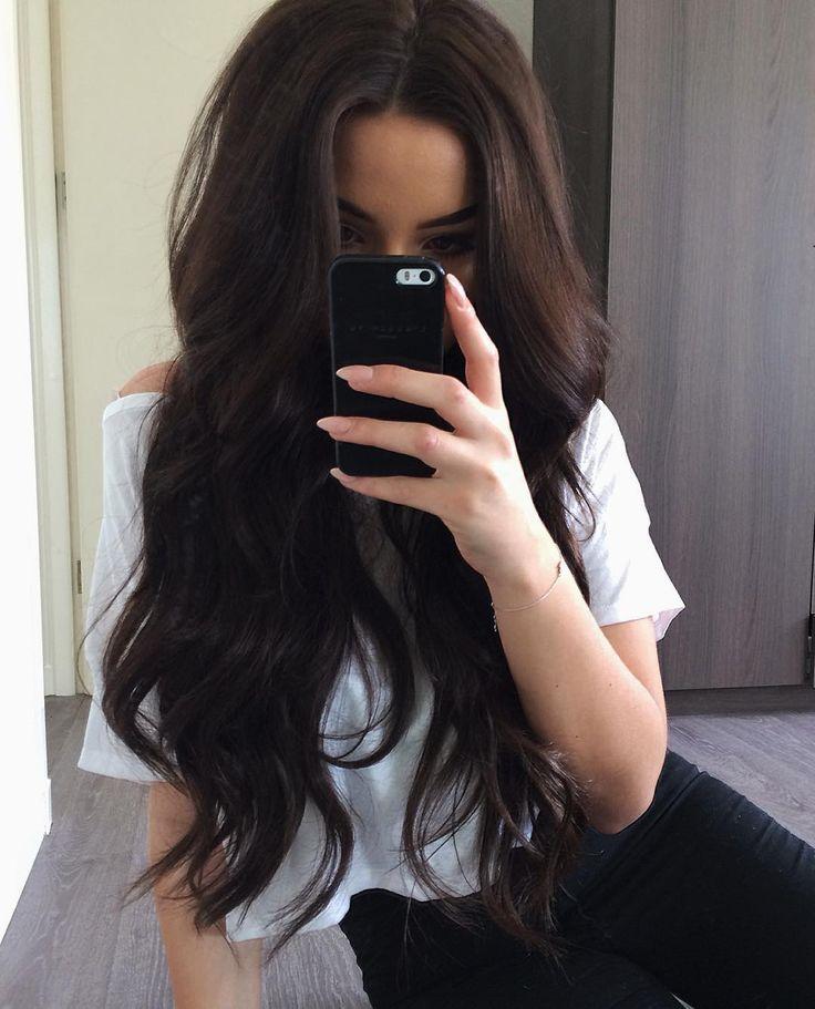 25+ best ideas about Long Dark Hair on Pinterest.