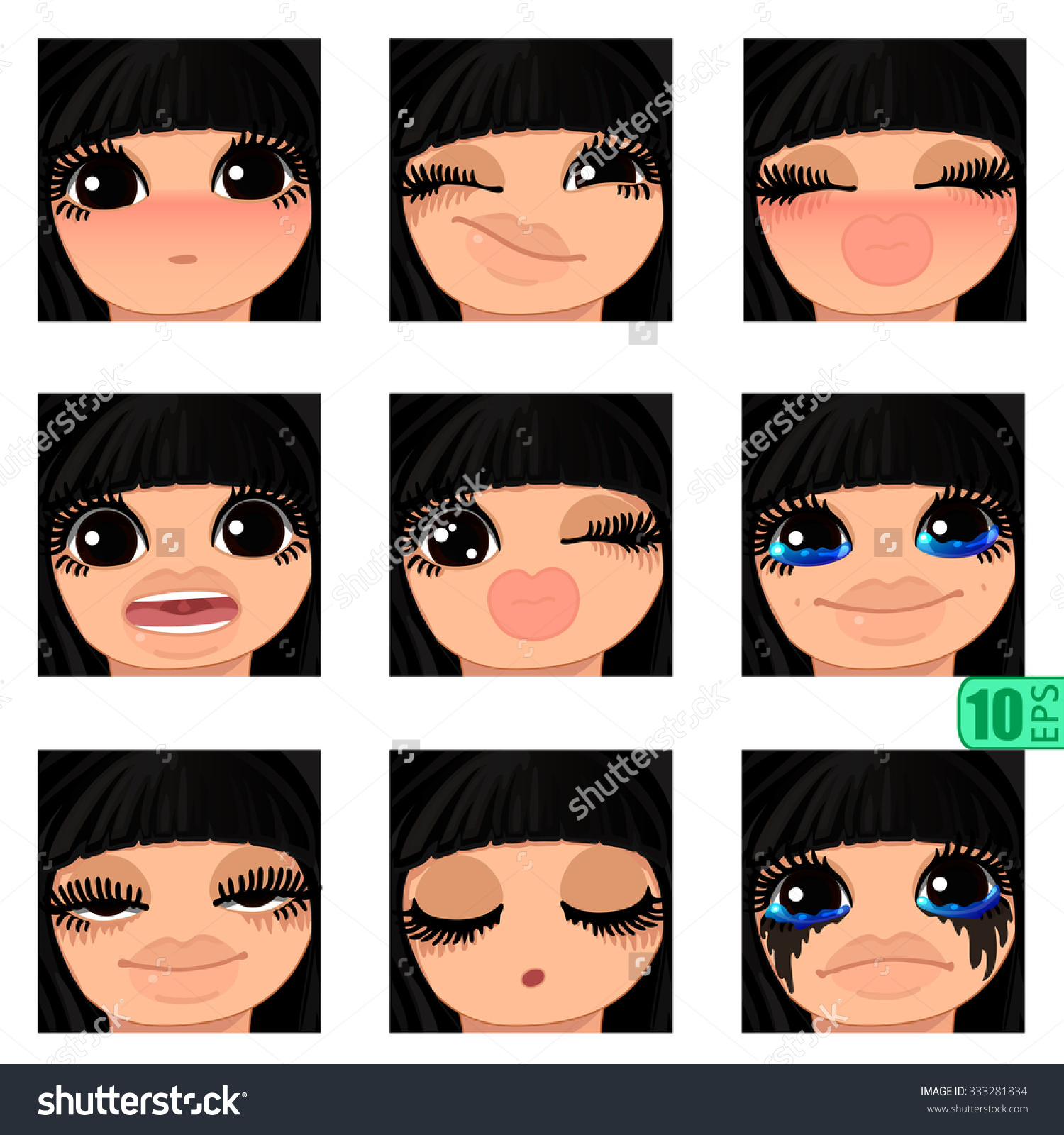 Vector Set Avatars Icons Smiley Clipart Stock Vector 333281834.