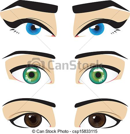 Baby Brown Eyes Clipart.
