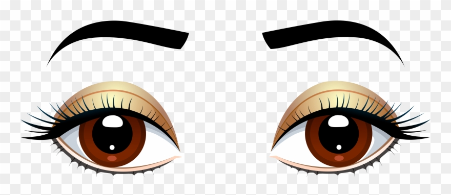 Brown Eyes With Eyebrows Png Clip Art.