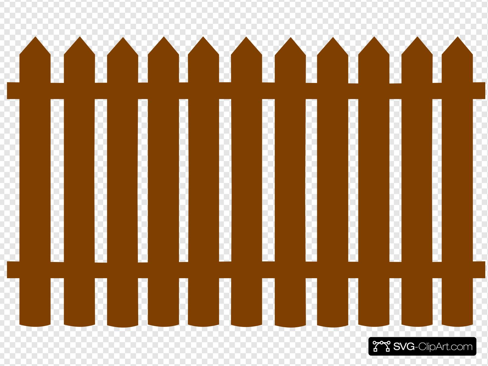 Brown Fences Clip art, Icon and SVG.