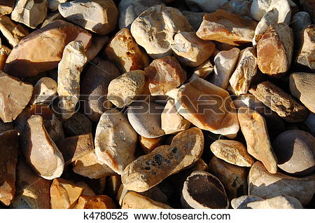 Stock Image of Flint Stone chips k4780525.