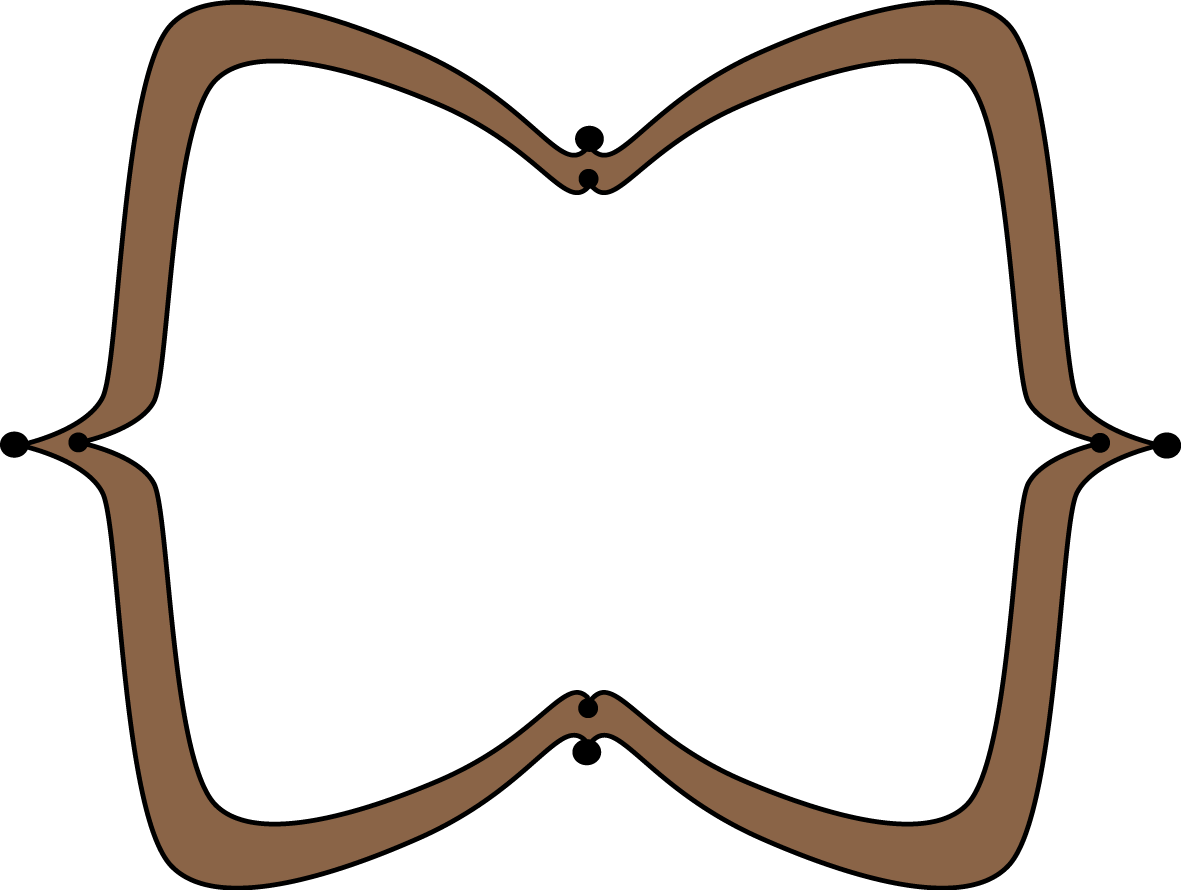 Brown Wide Pointy Frame.