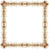 Clipart of Fancy brown frame u26858163.