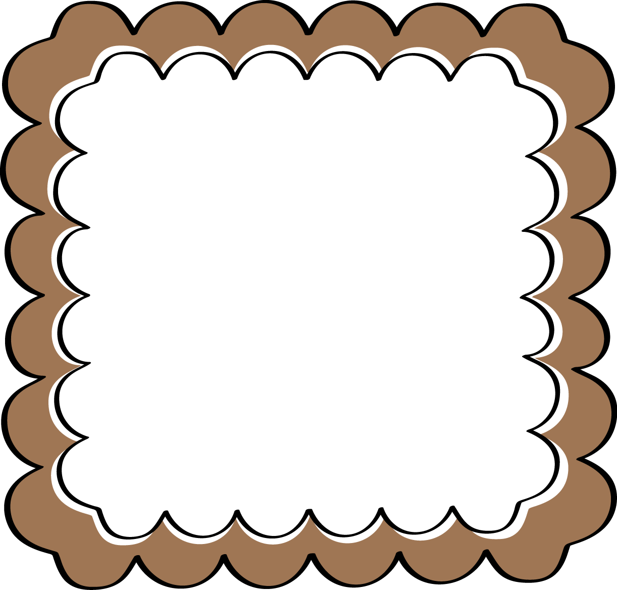 Beige And Brown Photo Frames And Clipart.