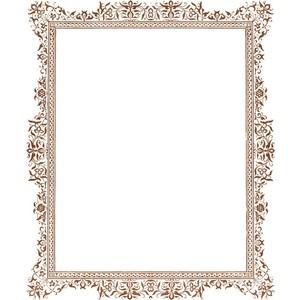 Brown Vintage Frame.