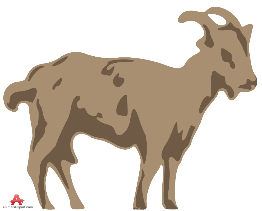 Animals Clipart of goat.