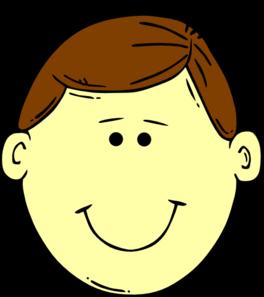 Brown hair clipart boy.